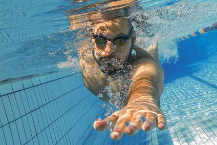 Freistil Kraulen Schwimmen Unterwasser